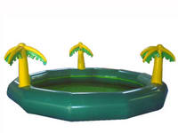 CE Approval Durable Inflatable Pool with Palm Trees for Sale