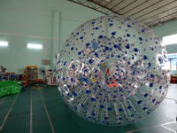 Custom Made Blue Dots Zorb ball