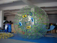 Commercial Grade Green Color Dots Zorb ball