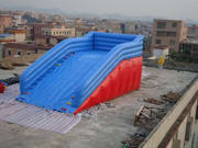 New Style Inflatable Zorb Ball Ramp Race Track for Carnival