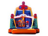 Inflatable Spiderman Trampoline Slide