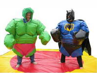 Super Heros, Hulk and Batman Sumo Suits for Adults