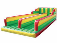 Colorful Duable Lane Inflatable Bungee Run with Harnesses and Bungee Cords