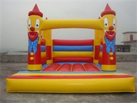 Happy Clown Inflatable Jumping Castle