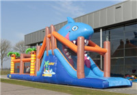 Hot Selling Inflatable Obstacle Run Shark for Rental