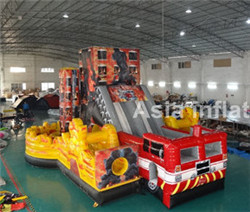 Inflatable fire rescue obstacle course for sale