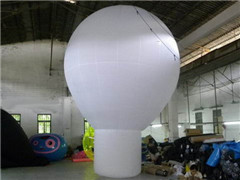 Custom Hot Air Shaped White Color PVC Ground Balloon