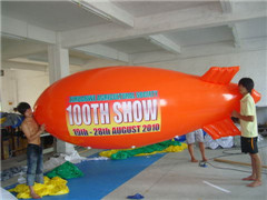 Custom 4m Long Orange Advertising Blimps for 100TH Show
