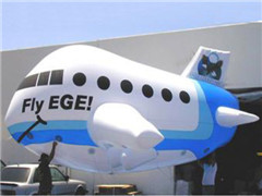 Custom Single Color Printing Inflatable Airplane