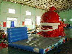 New Design Funny Snappy Fish Inflatable Slide for Rental