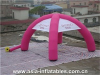 Commercial use Pink Inflatable Dome Tent with Digital Printing Logo