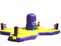 4 Players Inflatable Sports Challenge Extreme Great for All Ages