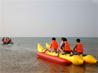 Funny Double Tubes Inflatable Banana Boat 8 Passengers for Sale