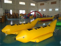 OEM Double Tubes 6 Seats Inflatable Banana Boat for Wholesale