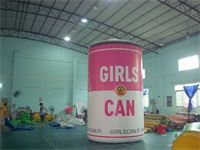 Full Color Digital Printing Girls Can Inflatable Pop-Top Can for Sales Promotions