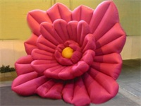Large Red Strong Style Peony Flower Inflatable Model