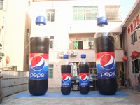 Strong Style PVC Material Airtight Inflatable PEPSI Cola Bottle for Sales Promotions
