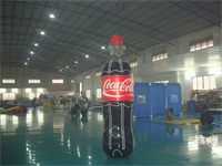 Strong Style PVC Material Airtight Inflatable Coca Cola Bottle for Sales Promotions