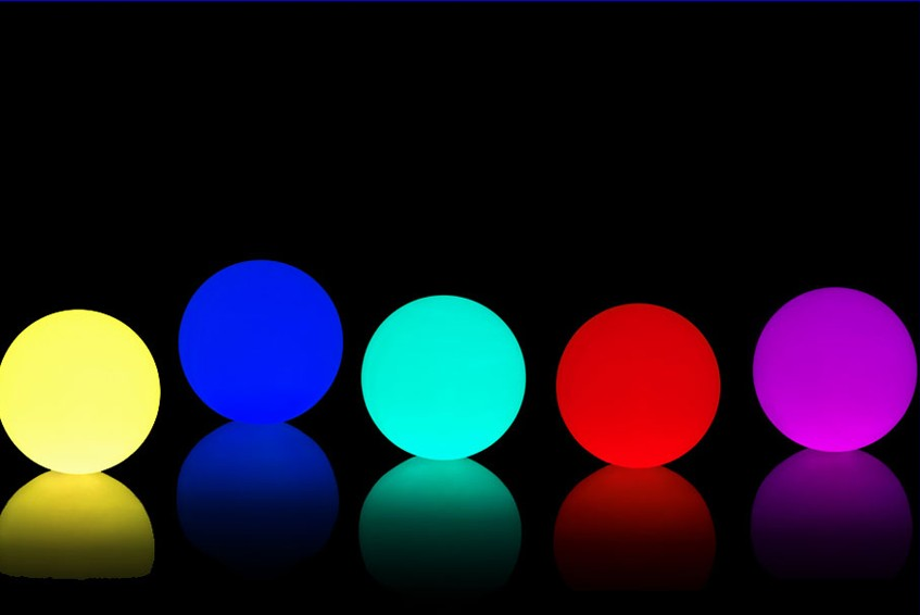 Hot sale big led water floating light ball