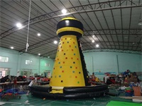 New Style Black and Yellow Inflatable Rock Climbing Mountain