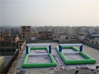 1000D PVC tarpaulin Inflatable Water Volleyball Game for Sale