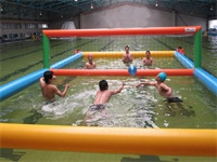 Indoor Inflatable Volleyball Court Swimming Pool Game