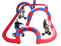 Giant Tricycle Sand Inflatable Race Track