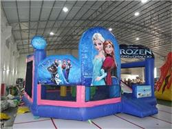 New 5 In 1 Frozen Bounce House With Slide Combo for Sale