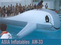 Aqua Runs Squirt Dolphin Slide Airflow Inflatable Water Games