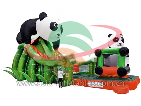 Lovely Bamboo And Panda Slide