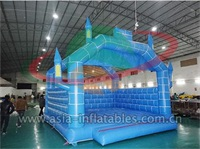 Inflatable Blue Bouncer Castle With Arch