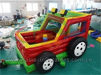 Inflatable Red Jeep Car Bouncer