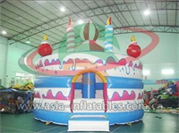 Inflatable Birthday Cake Jumping Castle