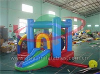 Inflatable Rainbow Jumping Castle Slide for Rentals
