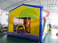 Inflatable Cubic Bouncer With Removable Cartoon Panels