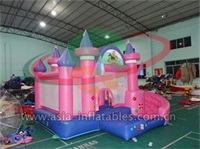 Girly Princess Bounce House Wet or Dry Slide Combo