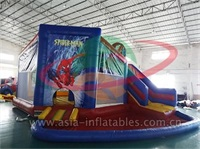 Spider Man Water Slide And Water Pool Combo