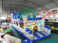 Inflatable Castle Obstacle Course Sports