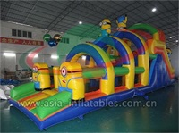 Hot Sale Inflatable Minion Obstacle Course