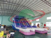 Inflatable Double Splash Pool Water Slide