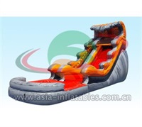 Inflatable Lava Tidal Wave Water Slide