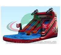 Inflatable Pirate Dual Lane Water Slide