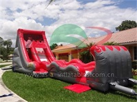 18 ft Volcano Water Slide With Slip N Slide