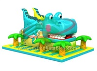 Giant Inflatable Dinosaur Moving Mouth Slide