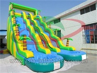 Palm Tree Water Slide With Two Splash Pool