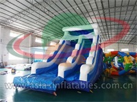 Inflatable Ocean Blue Dry Slide