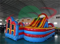 Children Inflatable Slide With Jumping Playground