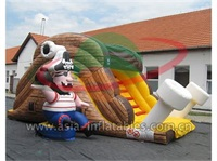 Inflatable Home Use Mini Pirate Ship Slide