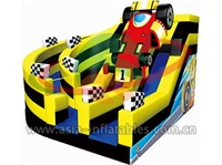 Event Inflatable Multi Lane Car Race Slide