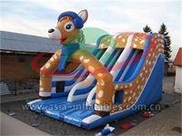 Inflatable Deer Slide For Christmas Holiday Event